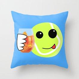 Tennis ball ready to party Throw Pillow