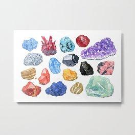 Rocks and Minerals I Metal Print