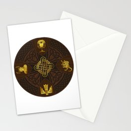Ilvermorny Knot with House Shields Stationery Cards