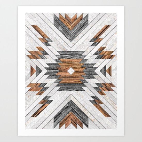 Urban Tribal Pattern No.8 - Aztec - Wood by zoltanratko