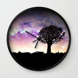 African galaxy skyline - Landscape Photography #Society6 Wall Clock