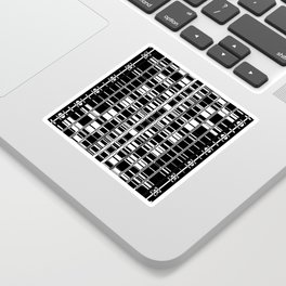 Bar Code Black and White Abstract Design Sticker