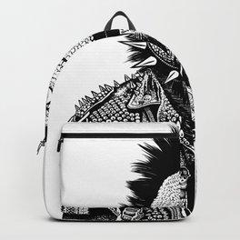 Crested Punk Velociraptor Backpack