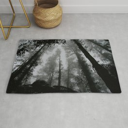 The Dark Forest (Black and White) Rug
