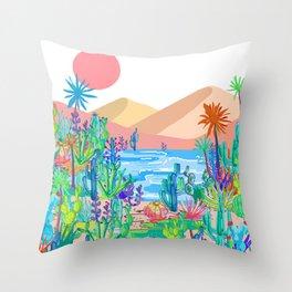 Wild West Desert Throw Pillow