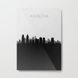 City Skylines: Philadelphia Metal Print