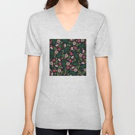 Tropical: Sea Turtles and Coconut Pattern Unisex V-Neck