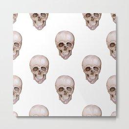 Seamless pattern of watercolor skulls. Metal Print