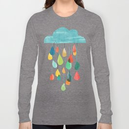 cloudy with a chance of rainbow Langarmshirt