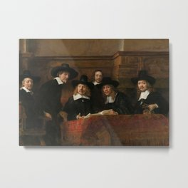 The Syndics of the Amsterdam Drapers' Guild Metal Print