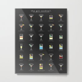 The Gin Cocktail Metal Print