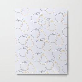 apple and pear Metal Print