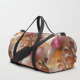 discopattern orange -1- Duffle Bag