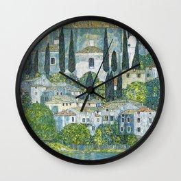 Gustav Klimt - Church in Cassone Wall Clock