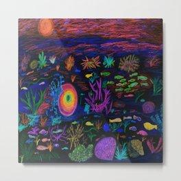 Deep Sea at Sunset Metal Print