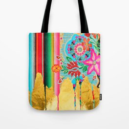 Gold Dipped Boho Serape Dream Tote Bag