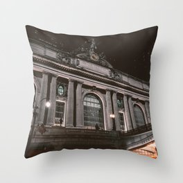 Architecture building in the night Throw Pillow