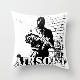 For Airsoft Enthusiasts Throw Pillow