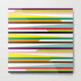 Geometric Pattern 72 (colorful stripes) Metal Print