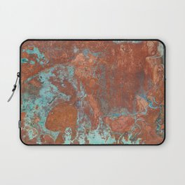 Tarnished Metal Copper Texture - Natural Marbling Industrial Art Laptop Sleeve