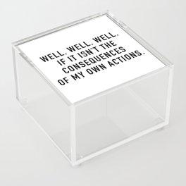 Consequences Acrylic Box