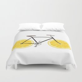 Lemon Bike Duvet Cover