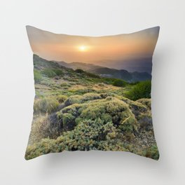 Summer Sunset At The Mountains Throw Pillow