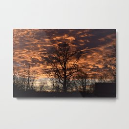 Sky on Fire in Tennessee Metal Print