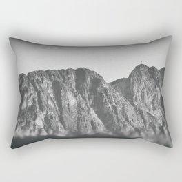 Giewont mountains Tatry #tatry #blackandwhite #photo Rectangular Pillow