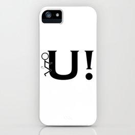 Fuck U Humping Stickman Black Typography Sarcasm iPhone Case
