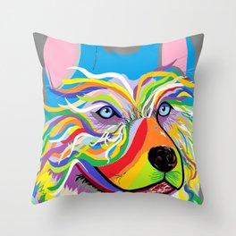 Huskie Throw Pillow