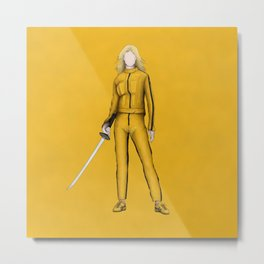 The Bride without a face (Kill Bill) Metal Print