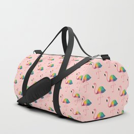 Rainbow Flamingo Duffle Bag
