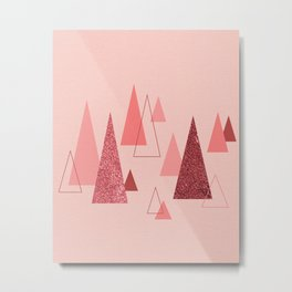 Pink Forest Metal Print