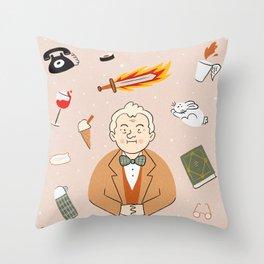 A soft boy Throw Pillow