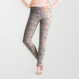 Seamless pattern world crowded with funny cats Leggings