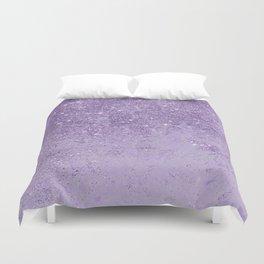 Modern elegant lavender lilac glitter marble Duvet Cover