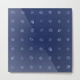 Shibori dots Metal Print