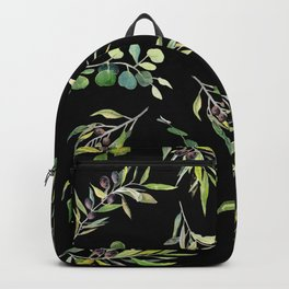 Eucalyptus and Olive Pattern  Backpack