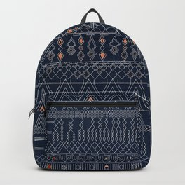 Blue Farmhouse Antique Traditional Moroccan Style Artwork Backpack
