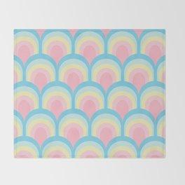 Rainbow Scales - Pastel Throw Blanket