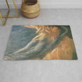 Paolo e Francesca (Swept Away) by Gaetano Previati Rug