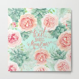 Peach Mint Anna Metal Print