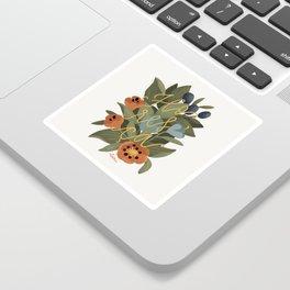 Bloom - Flowers & Lettering Art Print Sticker