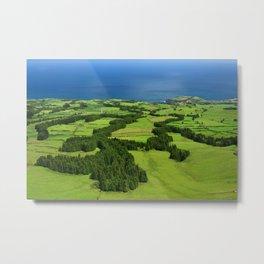 Typical Azores landscape Metal Print