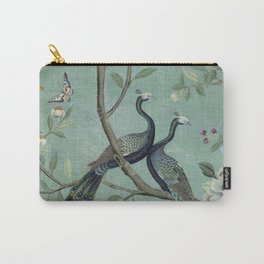A Teal of Two Birds Chinoiserie Tasche
