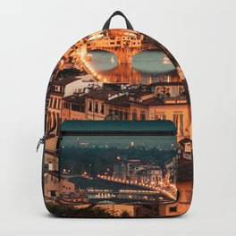 ponte vecchio in florence Backpack