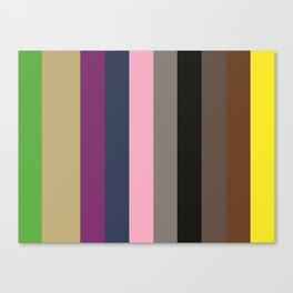 KEEPING BUSY : KellyGreen, Ecrux2, Purple, Indigo, Nadeshiko Pink, Grey, Black, Umber, Sepia, Yellow Canvas Print