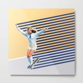 Skate Like a Girl 02 Metal Print
