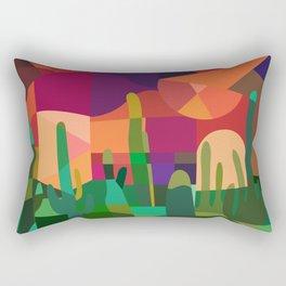 Botanical Wonderland - Cactus Garden Bybrije Rectangular Pillow